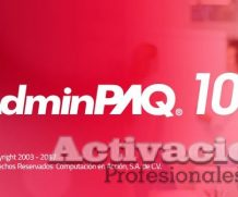 AdminPAQ 10.1.1 crack 2017 full descarga activacion