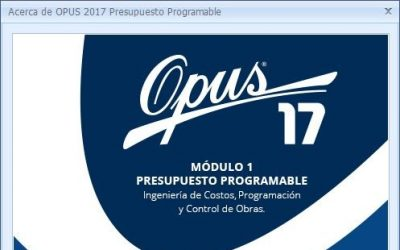 Opus 17 full Modulo 1 Presupuesto Programable crack Mega